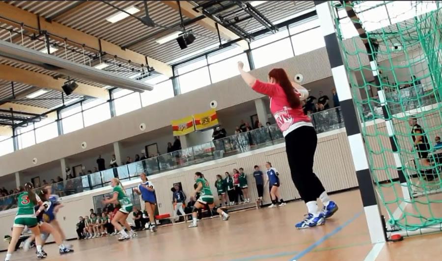 Spielszene vom DHB Länderpokal weibliche B-Jugend im Januar 2013.
