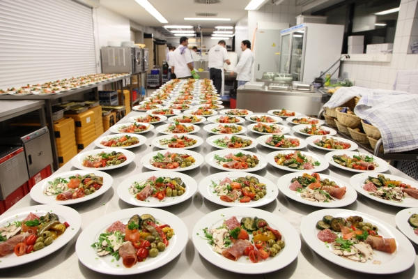 In der Küche der Talwiesenhallen